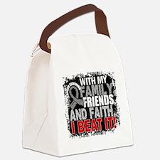 Brain Cancer Survivor FamilyFrien Canvas Lunch Bag