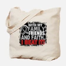 Brain Cancer Survivor FamilyFriendsFaith Tote Bag