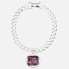 Breast Cancer Survivor F Bracelet