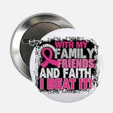 """Breast Cancer Survivor FamilyFriendsF 2.25"""" Button"""