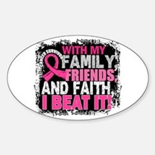 Breast Cancer Survivor FamilyFriend Sticker (Oval)