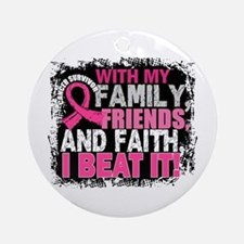 Breast Cancer Survivor FamilyFrie Ornament (Round)