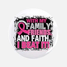 "Breast Cancer Survivor Fami 3.5"" Button (100 pack)"