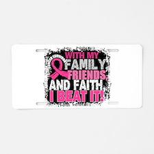 Breast Cancer Survivor Fami Aluminum License Plate