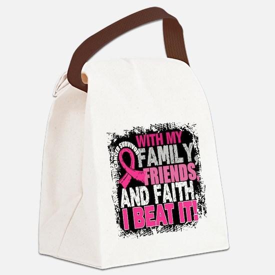 Breast Cancer Survivor FamilyFrie Canvas Lunch Bag