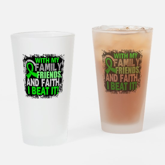 NH Lymphoma Survivor FamilyFriendsF Drinking Glass