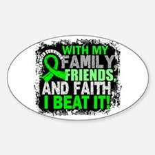 NH Lymphoma Survivor FamilyFriendsF Sticker (Oval)