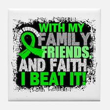 NH Lymphoma Survivor FamilyFriendsFai Tile Coaster