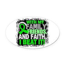 NH Lymphoma Survivor FamilyFriends Oval Car Magnet
