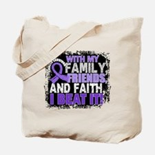 Hodgkin's Lymphoma Survivor FamilyFriends Tote Bag
