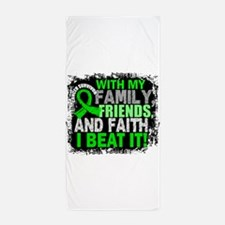 Lymphoma Survivor FamilyFriendsFaith Beach Towel