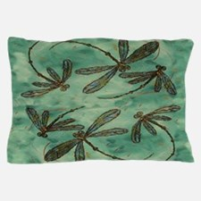 Dragonfly Flit Myrtle Green Pillow Case