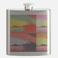 Santa Monica Pier Pop Art Flask