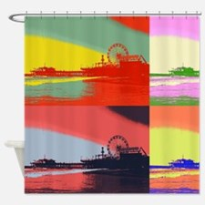 Santa Monica Pier Pop Art Shower Curtain