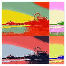 Santa Monica Pier Pop Art Poster