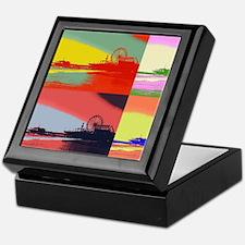 Santa Monica Pier Pop Art Keepsake Box