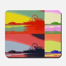 Santa Monica Pier Pop Art Mousepad
