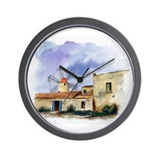 Sicily Windmill Wall Clock