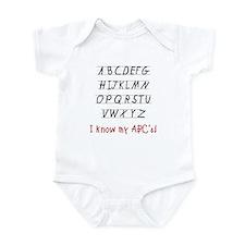 Know My ABC's Infant Bodysuit
