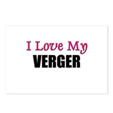 I Love My VERGER Postcards (Package of 8)