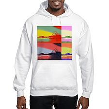 Santa Monica Pier Pop Art Hoodie