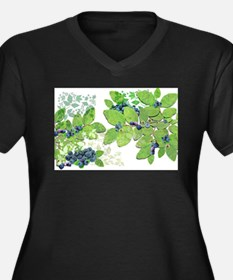 Blueberries from Nova Scotia Plus Size T-Shirt