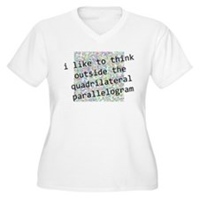 Think Outside The Box Plus Size T-Shirt