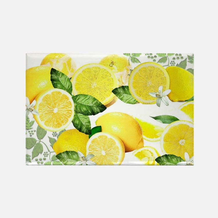 Acid Lemon from Calabria Rectangle Magnet