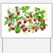 Funny Strawberries Yard Sign