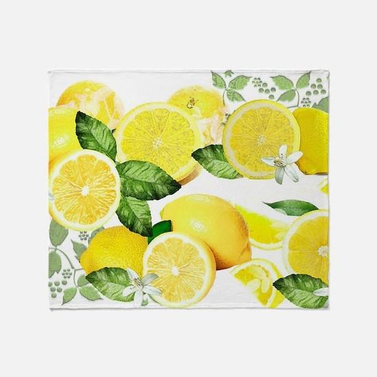 Acid Lemon from Calabria Throw Blanket