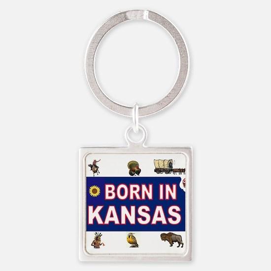 KANSAS BORN Keychains