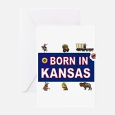 KANSAS BORN Greeting Cards