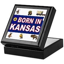 KANSAS BORN Keepsake Box
