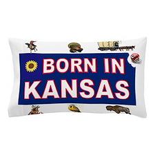 KANSAS BORN Pillow Case