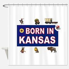 KANSAS BORN Shower Curtain