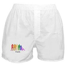 Croatia diversity Boxer Shorts