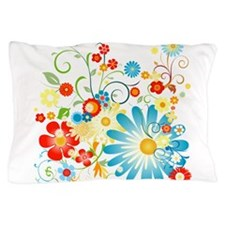 Colorful explosion of flowers Pillow Case