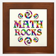 Math Rocks Framed Tile