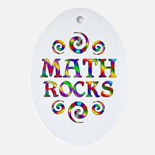 Math Rocks Ornament (Oval)