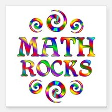 "Math Rocks Square Car Magnet 3"" x 3"""