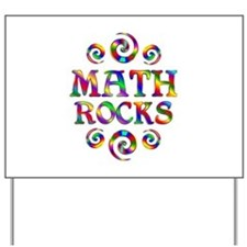 Math Rocks Yard Sign