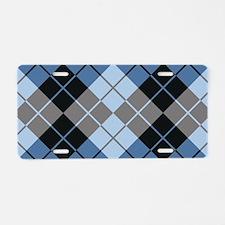 Argyle Design Aluminum License Plate