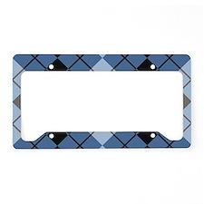 Argyle Design License Plate Holder