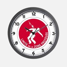 Limit of Protected Area - France Wall Clock