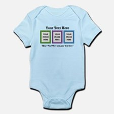 CUSTOM 3 Image Frame Green Blue Purple Body Suit