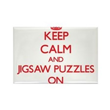 Keep Calm and Jigsaw Puzzles ON Magnets