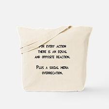 Social media overreaction Tote Bag