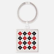 Dashed Argyle Square Keychain