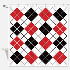 Dashed Argyle Shower Curtain
