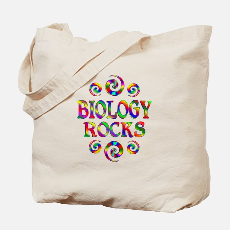 Biology Rocks Tote Bag
